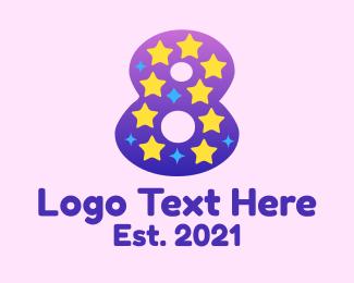 Kinder - Starry Eight  logo design