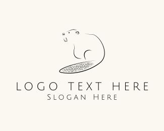 Lumberjack - Black Beaver logo design