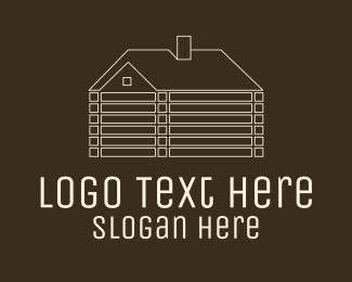 Bed And Breakfast - White Minimalist Log Cabin  logo design