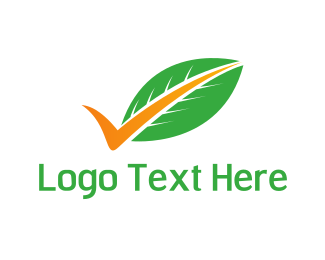 Tick - Leaf Tick logo design