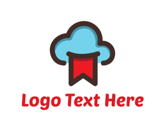 Flag - Blue Cloud & Red flag logo design