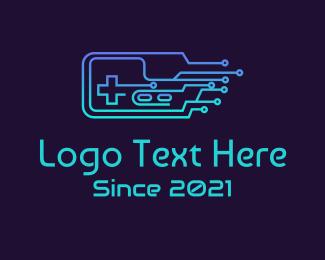 Gadgets - Gradient Circuit Controller logo design