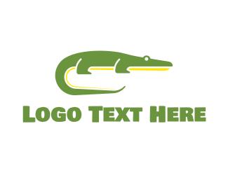 Crocodile - Green Crocodile logo design