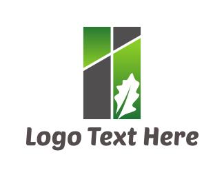 Rectangle - Leaf Rectangle logo design