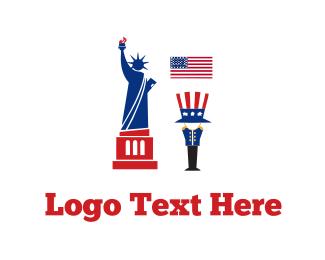America - American Tour logo design