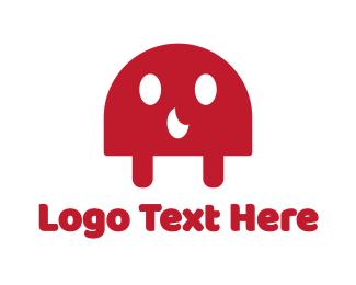 Mushroom - Red Ghost logo design