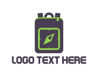 Wanderlust - Travel Backpack logo design