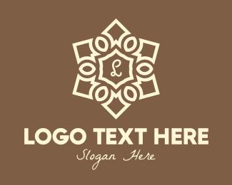 Hinduism - Elegant Mandala Lettermark logo design