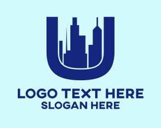 City Development - Modern City Letter U logo design