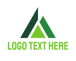 Management Consulting - Abstract Green Triangle logo design