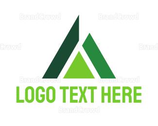 Asset Management - Abstract Green Triangle logo design