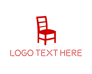 Seat - Red Chair logo design