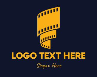 Reel - Yellow Film Reel logo design