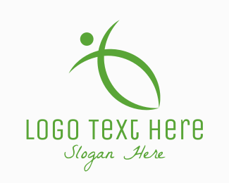 Yoga Instructor - Green Healthy Living logo design