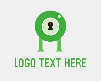 Private Eye - Droid Lock Green logo design
