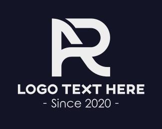 Ar - AR Letters Monogram logo design