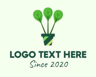 Home Gardening - Green Plant Gardening logo design