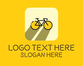 Exercise - Bicycle Cycling Bike App logo design