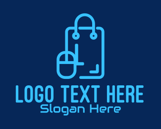 Tech Store - Tech Shopping Bag Lettermark logo design