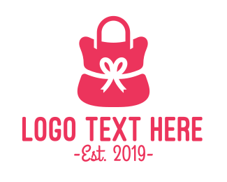 Present - Ribbon Pink Purse  logo design