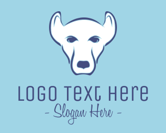 Kennel - White Pet Dog logo design
