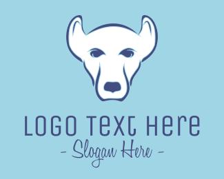 Pitbull - White Pet Dog logo design