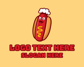 Fry - Hot Dog Sandwich Chef logo design
