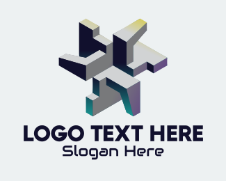Mecha - 3D Abstract Gaming logo design