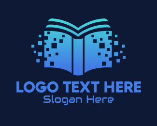 Learning - Online Digital Library Book logo design