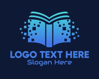 Book Club - Online Digital Library Book logo design