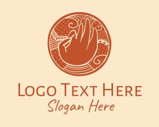 Tattoo Parlor - Buddhist Meditation Hand  logo design