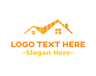 Real Estate Development - Striped Roof logo design