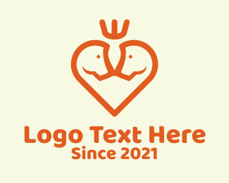 Horse Riding - Horse Heart Crown logo design