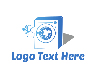 T-shirt - Washing Machine logo design