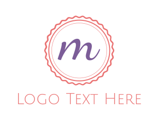 Stamp - Cute M Emblem logo design
