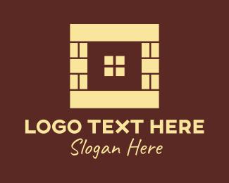 Brick - Brown Brick Window logo design
