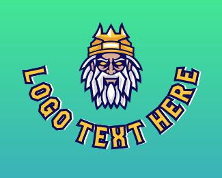 Oldman - King Head Avatar logo design