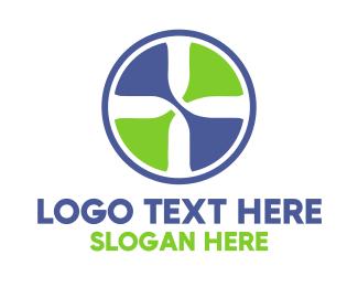 Countdown - Plus Sign Circle logo design