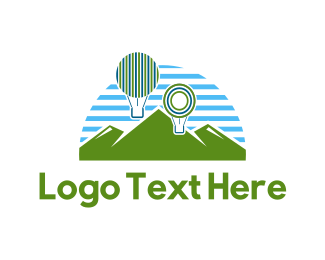 Hot Air Balloon - Balloon Park logo design