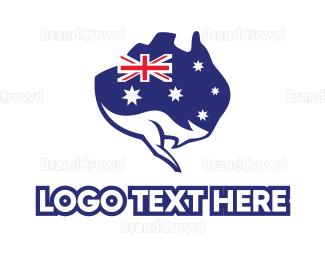 Politics - Australian Flag Kangaroo logo design