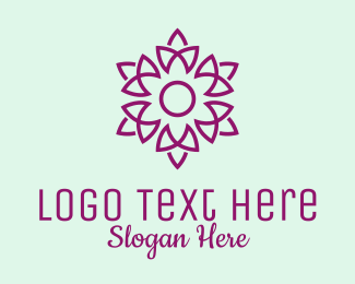 Lotus Flower - Elegant Purple Flower  logo design