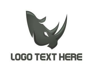Strength - Rhino Face logo design