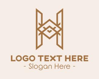 Furniture Shop - Elegant Letter H logo design
