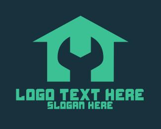 Tradesman - Wrench House Repair logo design