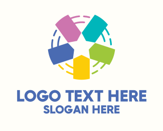 Hangtag - Colorful Price Tag Star logo design