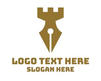 Chess - Brown Castle Fountain Pen logo design