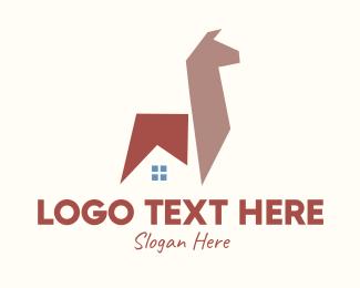 Animal - Lama Animal House Property logo design