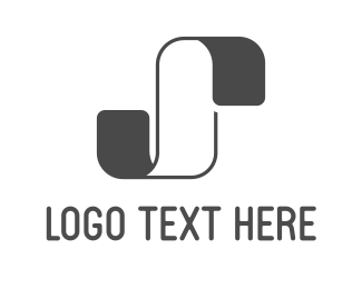 Soft - White & Grey Ribbon logo design