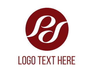 Letter P - Red Circle Letters logo design