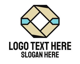 Dice - Abstract Diamond logo design